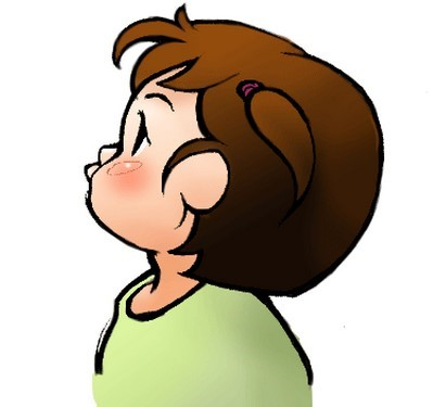 ダウン症 エコー 横顔